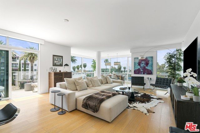 Exciting opportunity to live in the luxurious Waverly on Ocean Ave.  This stunning front row unit features floor to ceiling windows on all three sides, offering fabulous views and abundant natural light, making it one of the most exclusive and desirable locations in the building. Enjoy southern exposure and 3rd floor ocean views in the open layout designed by award-winning Marmol Radziner, tastefully upgraded with the finest materials, finishes, and appliances. Experience spectacular sunset views over the ocean, city, and mountains from every room! The spacious master suite has walk-in closet and luxurious white marble-clad master bath with dual sinks. Private junior master across the unit features en-suite bath. Plus a great bonus room/den/flex space. Side-by-side secured garage parking with private storage unit. Building amenities include 24hr concierge, gym, Starbucks, and 5th floor Sky Bridge Lounge for large-scale entertainment. Enjoy the immediate area, with world-class restaurants, shopping, Tongva Park, Santa Monica Beach and Pier, and bike paths for the ultimate in California living. Also available for lease at $15,000/mo.
