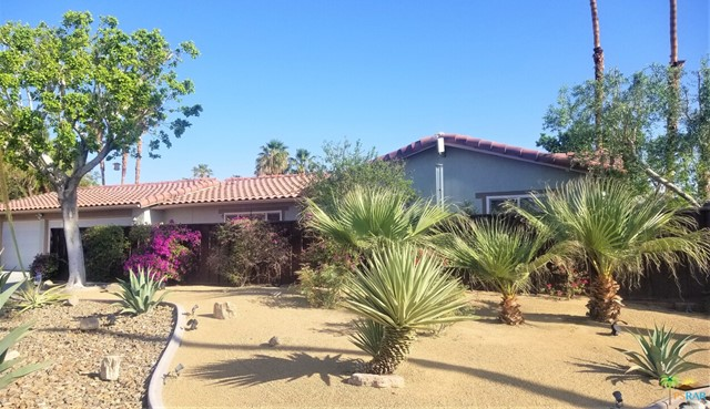 Located in the Vista Norte neighborhood this charming three car garage Home sits on a quiet cul-de-sac. You'll be amazed by the Mountain views from the enclosed front courtyard of this three bedroom two bath Home. The kitchen and bathrooms were updated in 2020 along with plumbing and new kitchen appliances. The private backyard features a sparkling salt water pool and spa, citrus fruit trees and a covered semi-enclosed patio making it prefect for indoor/outdoor entertaining. Close to shopping and other amenities and just minutes from downtown Palm Springs. No HOA or Lease payments as you OWN THE LAND!