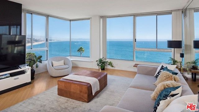 Enjoy breathtaking Ocean Views from every room in this Corner unit located in the desirable Pacific Palisades! Sweeping Panoramas of the bluffs and beaches, Sunrises over Santa Monica, Sunsets in Malibu, Catalina Island on the horizon, and the city lights of the Queens Necklace by night. Stunning and bright with abundant natural light and an open floor plan, this 3 bed plus two and a half bath is situated in the corner creating total privacy with 360 white water views from every room! The open kitchen has recently been remodeled and features a breakfast bar, Miele appliances, double oven, wine fridge, and pantry. The inviting living room is excellent for entertaining guests taking in the jetliner views, or relaxing with a nice glass of wine taking in the Surreal Sunset. Expansive master suite features an en suite bath with tub/shower, waking up to amazing Sunrises, taking in the incredible Ocean Views in this spacious master! The two guest suites feature private expansive views, perfect for a guest or home office. The 24 hour guard gated Edgewater Towers is on 9 lush acres, with two saltwater pools, basketball court, gym, amazing hiking trails, barbecue/picnic area, dog park, and tennis courts. Imagine living a 5-star lifestyle at the beach! This gorgeous condo is truly a gem, just steps to the beach, located around the corner from Pacific Palisades Village, Malibu Country Mart, and Santa Monica, truly encompassing a walkable beach lifestyle! HOA includes water, electricity, gas, cable, and internet. Please email for all showing requests.